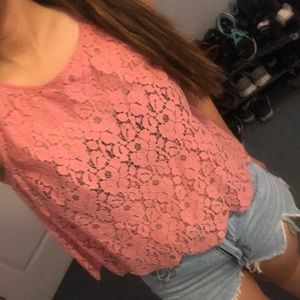 Cute Pink Scalloped Top
